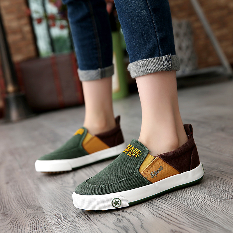 2018 European unisex fashion toddlers slip on new brand canvas baby girls boys shoes Spring/Autumn baby first walkers sneakers