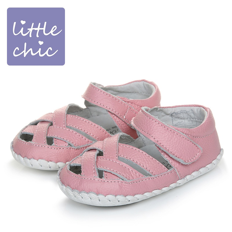2018 Summer Girls Toddler Shoes Genuine Leather Soft Bottom Baby First Steps Shoes Anti-skid Baby First Walkers