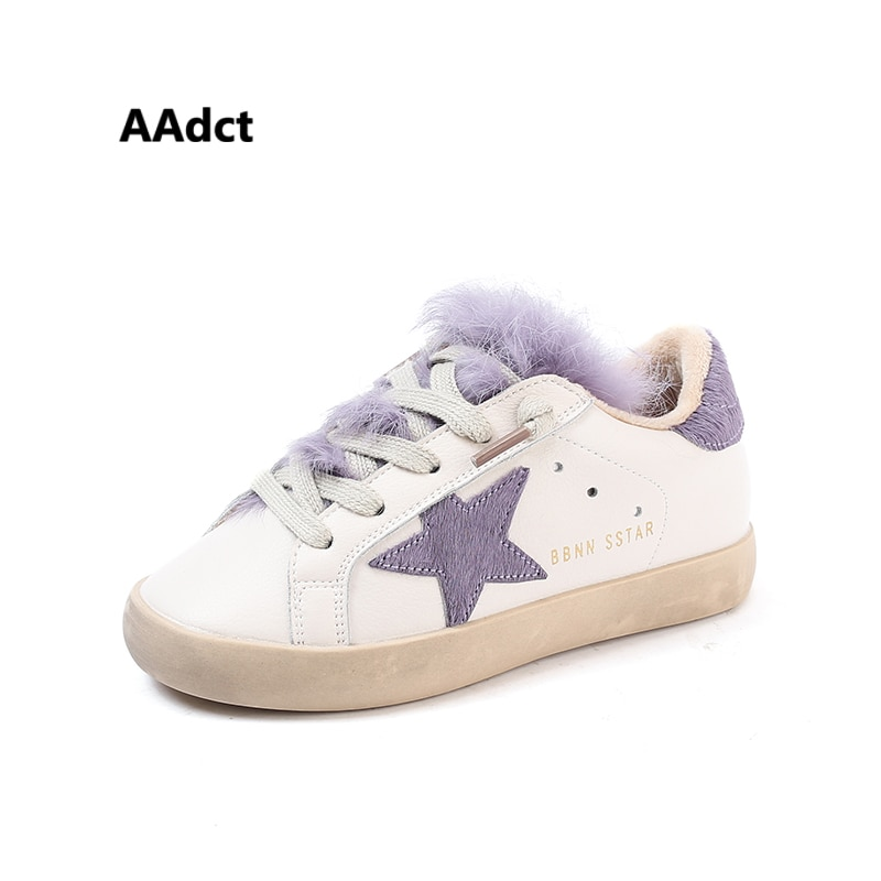 AAdct winter cotton warm casual sports children shoes running baby girls shoes 2018 new little kids shoes for girls sneakers fur