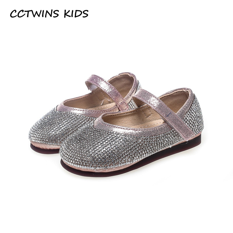 CCTWINS KIDS 2018 Autumn Toddler Fashion First Walker Baby Girl Brand Pu Leather Shoe Child Black Rhinestone Mary Jane FW109