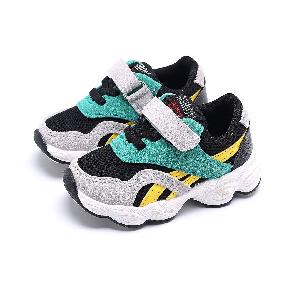 Fashion Baby Boys Girls Sneaker Skid Resistance Keep Warm Kids Casual Shoes New 2018 Cotton Striped Children Shoes Bj17207