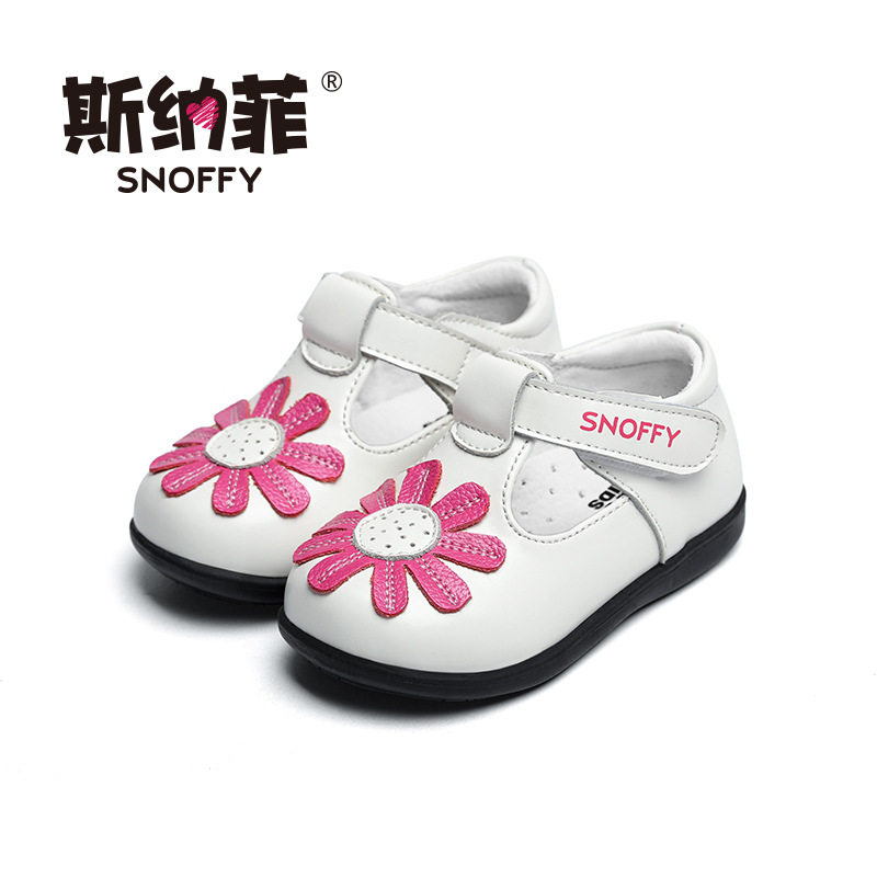 Snoffy 1-3 Years Toddler Baby Shoes Soft Sole Girls Patent Leather Shoes Spring Flower Infant Prewalker Shoes TX281