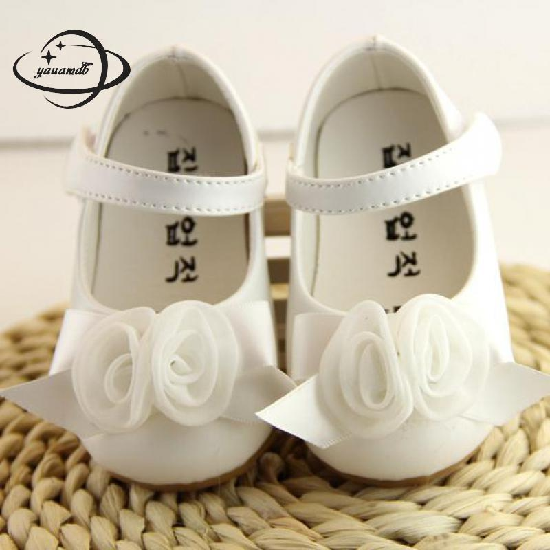 YAUAMDB baby leather shoes 2017 spring autumn girls cow muscle kid shoes bow tie princess cute children shoes Y36