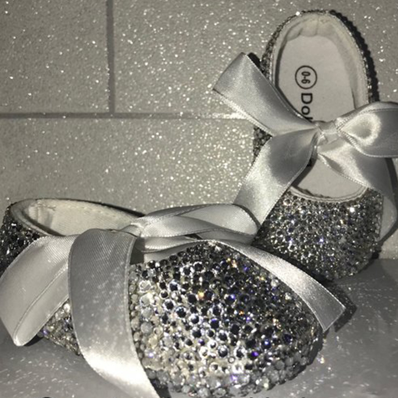 free shipping Rhinestone bling baby girl shoes soft bottom shoes Hand Made Baby Girl Shoes princess style Lovely fashion shoes