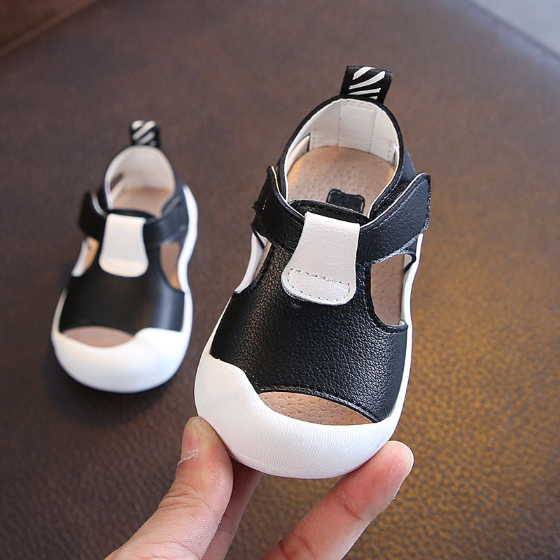 2018 Infant Summer Shoes Baby Girls Boys Toddler First Walkers Shoes Soft Bottom Genuine Leather Kids Baby Child Casual Shoes