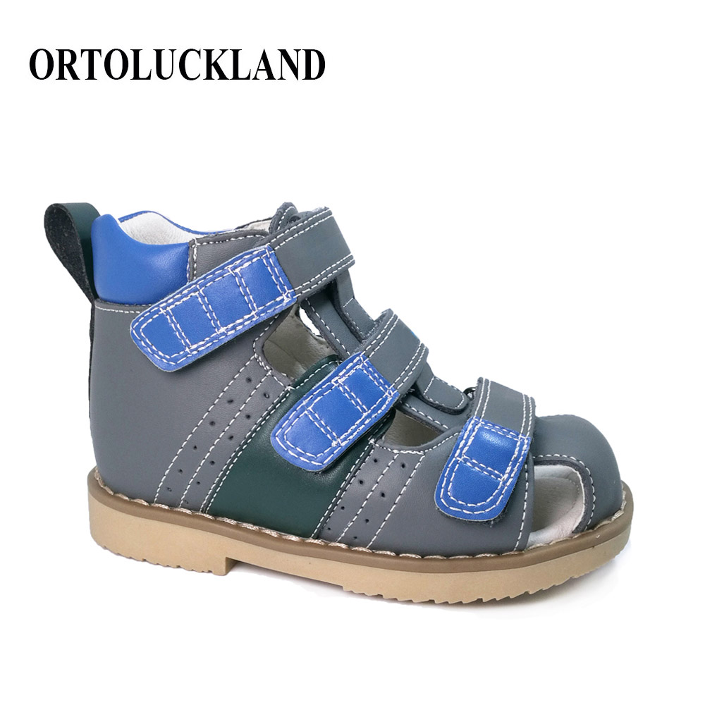 2018 fashion summer kids shoes brand closed toe toddler boys sandals orthopedic sport genuine leather baby boys sandals shoes