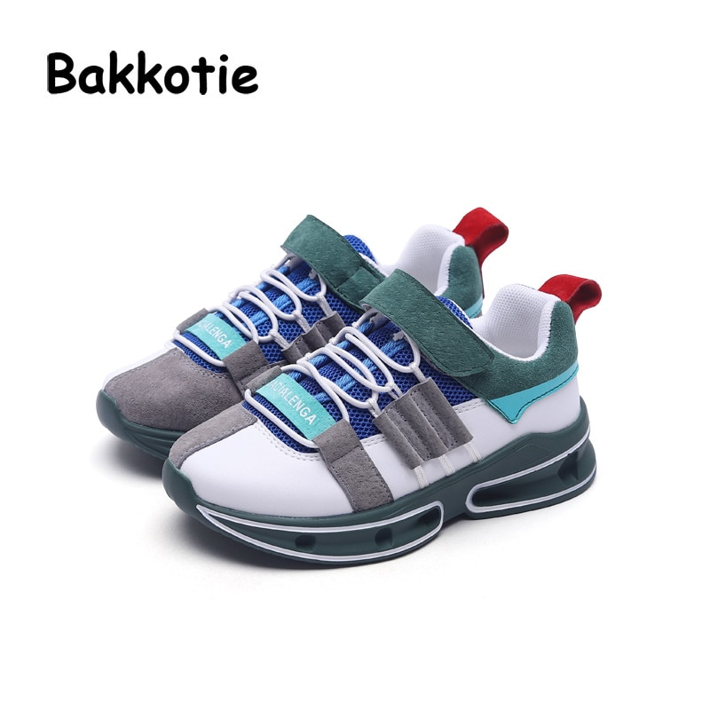 Bakkotie 2018 Autumn Fashion Baby Boy Genuine Leather Mesh Shoes Child Casual Sneakers Kid Sport Shoes Girl Brand Shoes Trainer