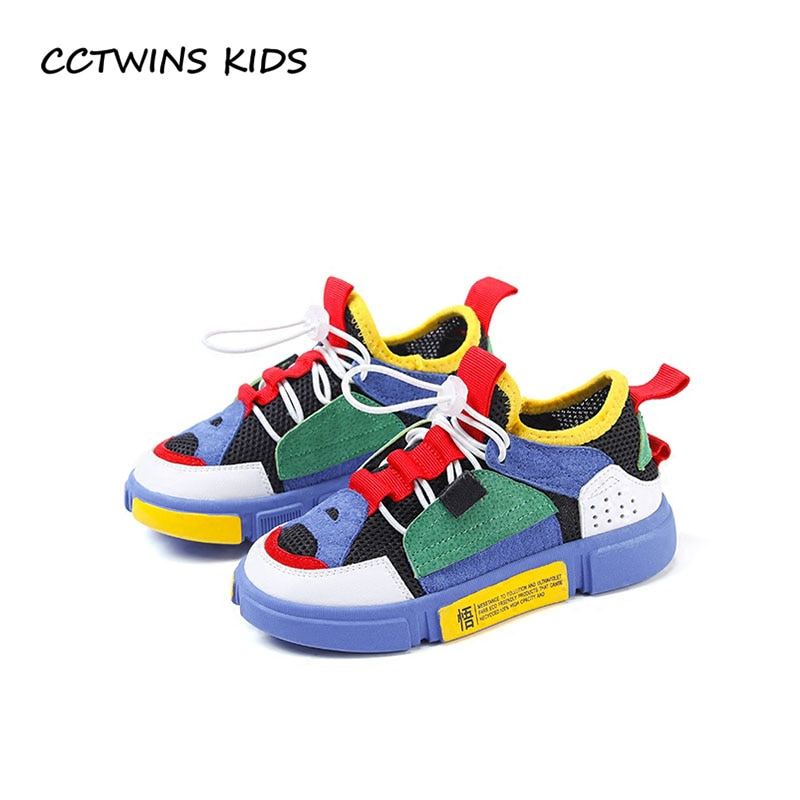 CCTWINS KIDS 2018 Spring Girl Genuine Leather Casual Shoe Children Breathable Mesh Trainer Baby Boy Sport Sneaker FC2289