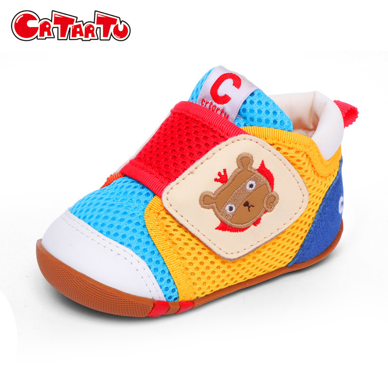 Crtartu Spring Net Cloth Baby Shoes Breathable Prewalkers Girls Little Kids Shoes Boys Toddlers First Walkers CSH409