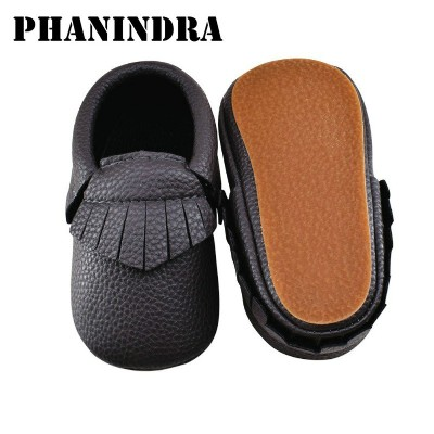 New kids rubber shoes Baby Moccasins Shoes fringe pu Leather baby boys kids Shoes slip-on first walker sapato de bebe