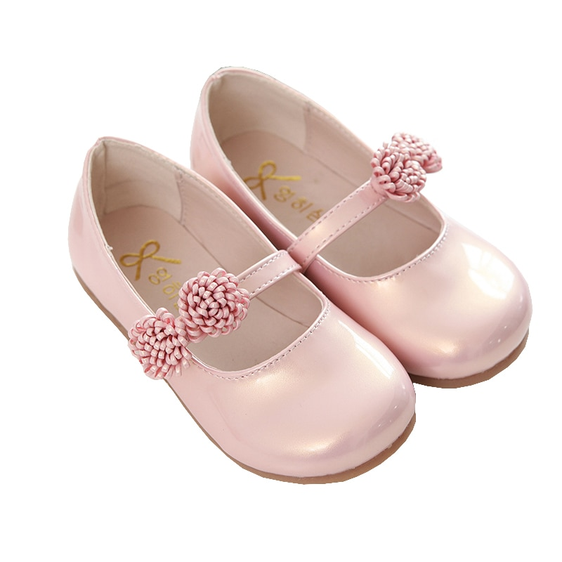 Pink Children Flowers Girls Kids Leather Princess Shoes For Teens Teenagers Girls Baby Party Wedding Dance Single Shoes Spring 2