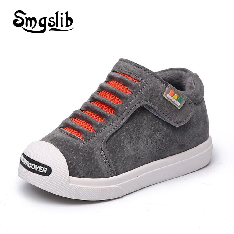 Smgslib toddler girls boots Genuine Leather shoes 2018 baby winter classic Warm Boots Kids boys rubber Children Outdoor Shoes