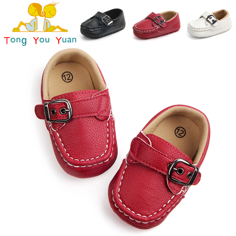 Spring and autumn fashion PU baby toddler shoes baby non-slip soft bottom indoor shoes free shipping