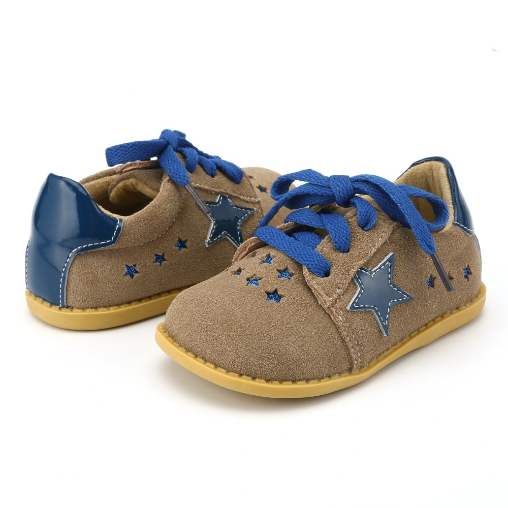 TipsieToes New Fashion Children Lady Girls Stars Shoes Genuine Leather toddler baby Low-heel Kids Mary jean SRivets Sneakers
