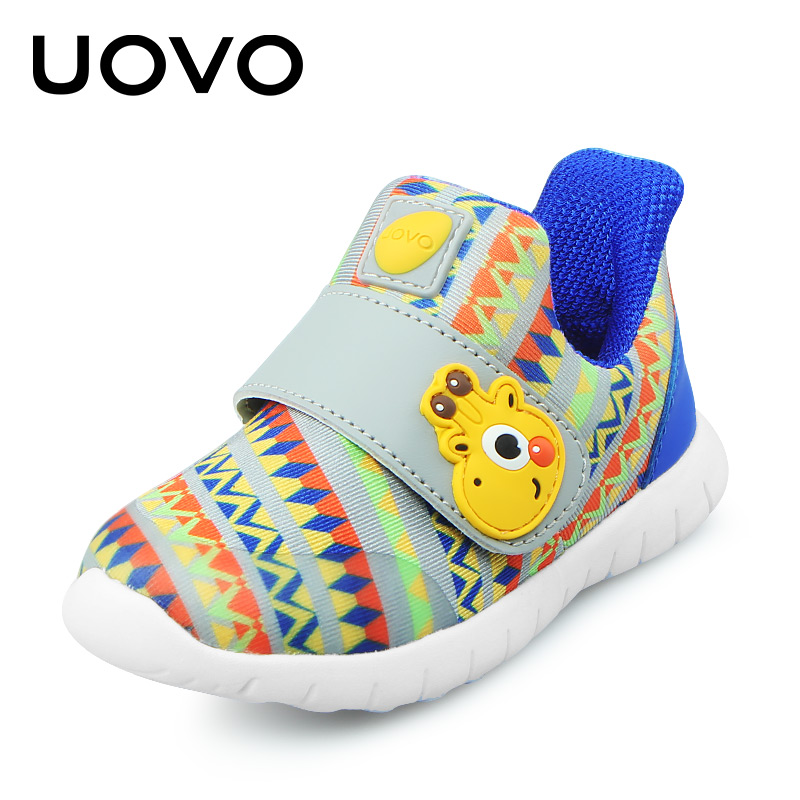UOVO 2018 Baby Shoes Toddler Boys And Girls Casual Shoes Spring breathable Little Kids Shoes Hook-And-Loop Size 22#-30#