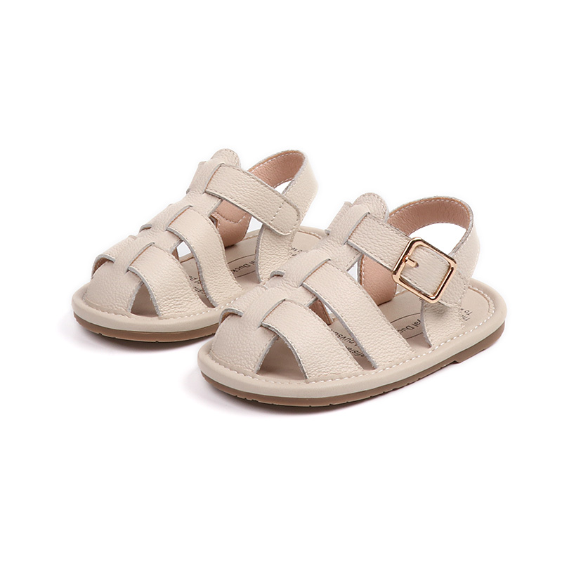 2018 New Genuine Leather Baby Boy Sandals Freely Girl Flat Shoes Soft Rubber Sole Toddler Baby Shoes 0 to 24 months
