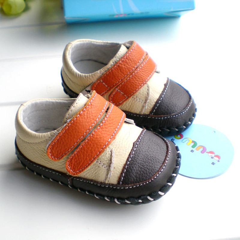 2018 OMN baby boys fashion patchwork genuine leather toddler shoes wholesale children casual shoes first walkers hot sale