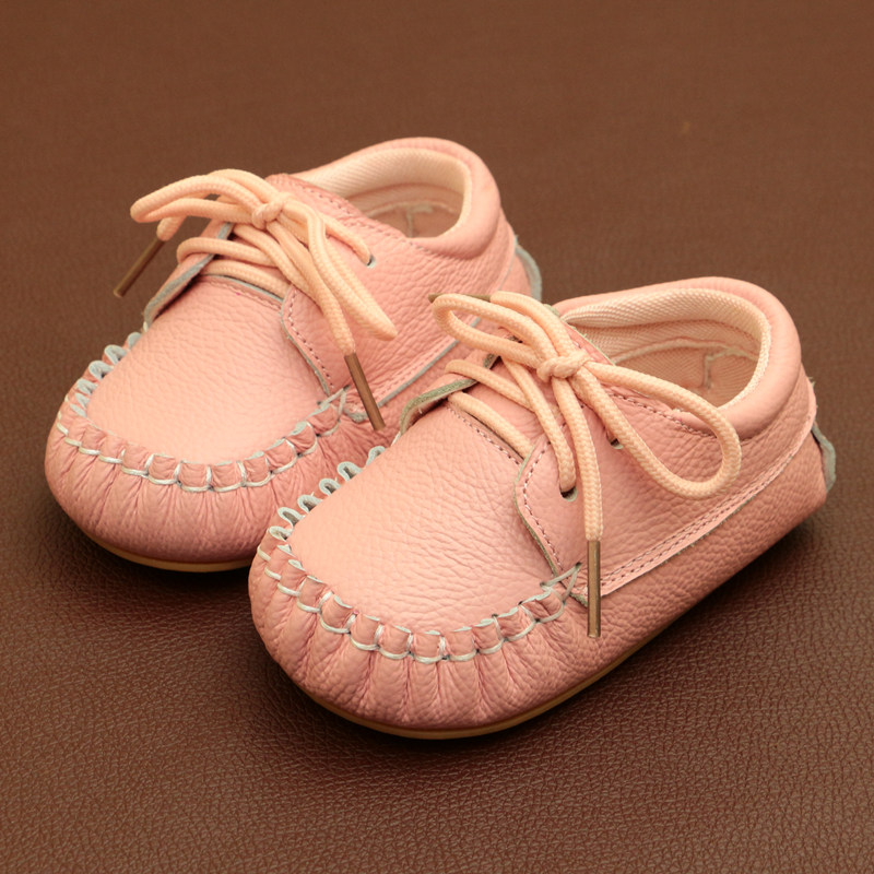 2018 Solid Color Baby Boy Girls Loafers Soft Sole Infant First Walkers Genuine Leather Baby Casual Shoes Sale