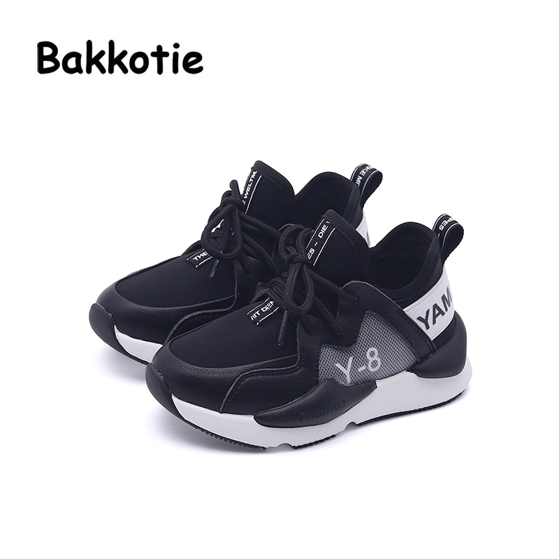 Bakkotie 2018 Autumn Fashion New Kid Mesh Slip-On Casual Sneakers Children Girl Sport Shoes Baby Boy White Leisure Brand Trainer