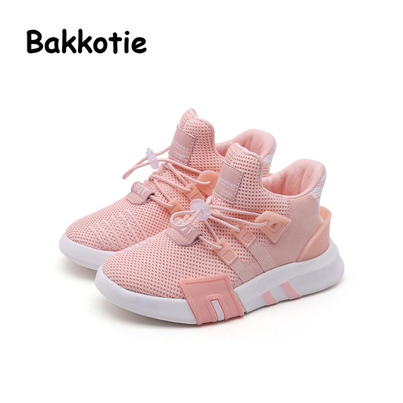 Bakkotie 2018 Spring Fashion Baby Boy Mesh Shoes Children Casual Sneakers Kid Black Sport Shoes Girl Slip-On Shoes Trainer