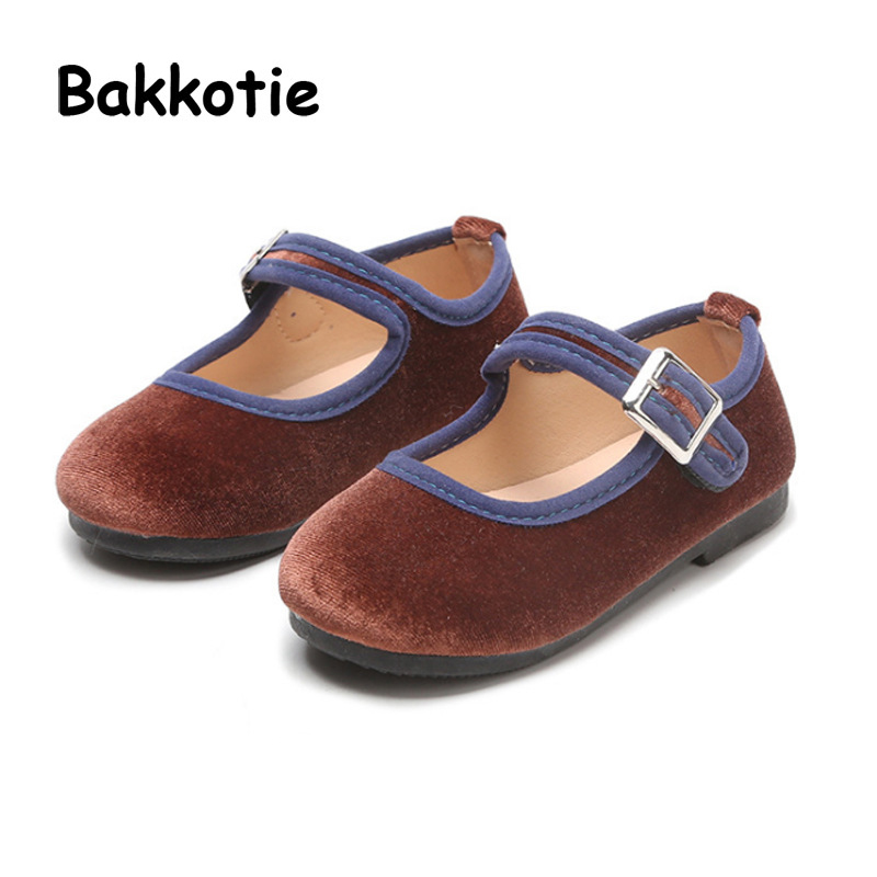 Bakkotie 2018 Spring New Fashion Baby Girl Pu Leather Shoe Toddler Black Flat Moccasins for Children Brand Soft Mary Jane Boy