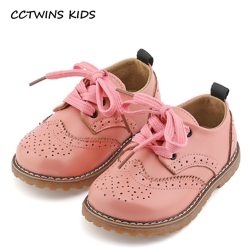 CCTWINS KIDS 2017 spring autumn child pink flat genuine leather toddler fashion shoe baby girl brand loafer oxford white G973