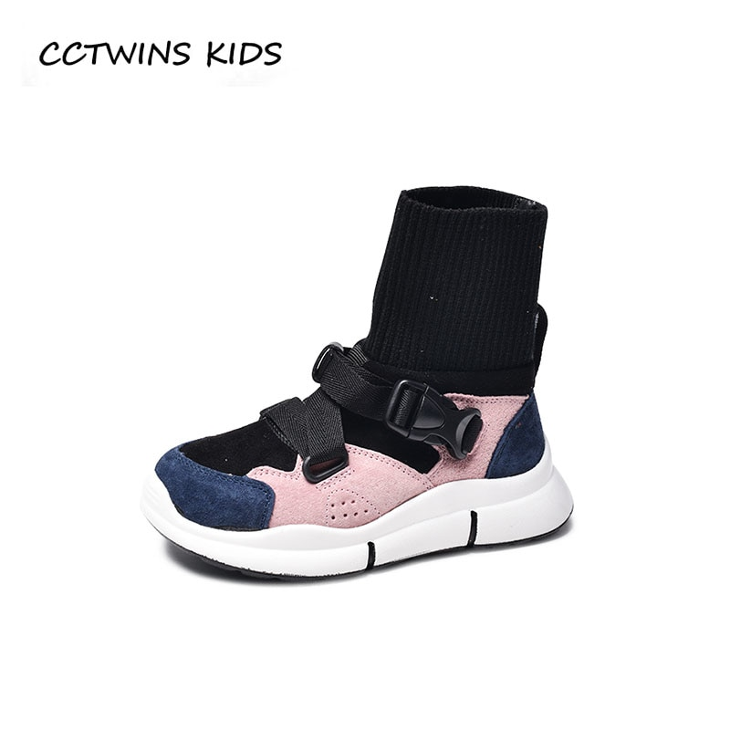 CCTWINS KIDS 2018 Autumn Children High Top Sneaker Boy Brand Sport Shoe Baby Girl Fashion Pu Leather Trainer Toddler FH2287