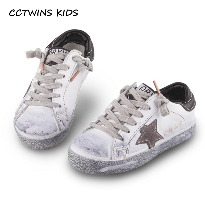 CCTWINS KIDS 2018 Toddler Baby Genuine Leather Shoe Girl Star Slip-On Sneaker Boy Sport Shoe Kid Children Causal Trainer FSL2254