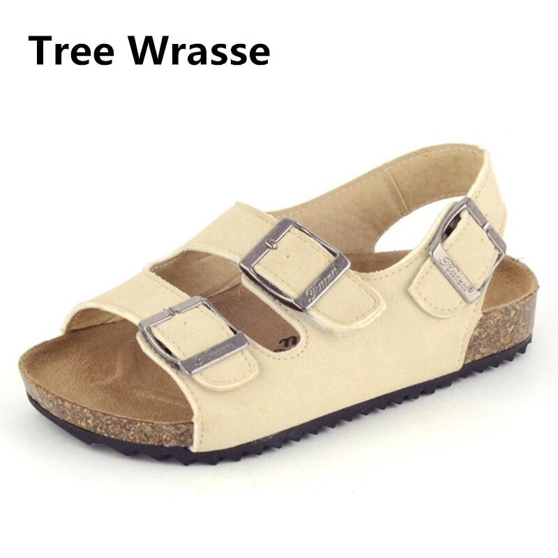 Children Cork Sandals 2017 Summer New Boys Girls Sandals For Baby Toddler Buckle Leather Shoes Casual Beach Shoes sneakers