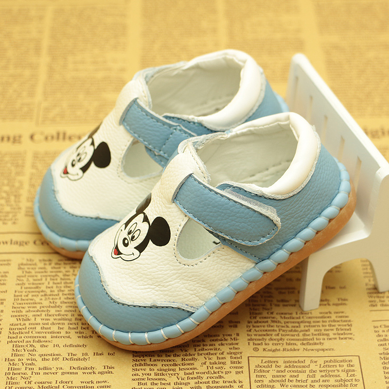 Cute Cartoon Baby Boys Girls Leather Shoes Soft Sole Infant Toddler Autumn New Baby Shoes