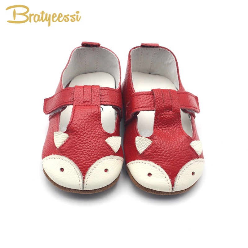 Fox Baby Girl Shoes Genuine Leather Baby Moccasins Anti Slip Cartoon Infant Girls Toddler Shoes 7 Colors