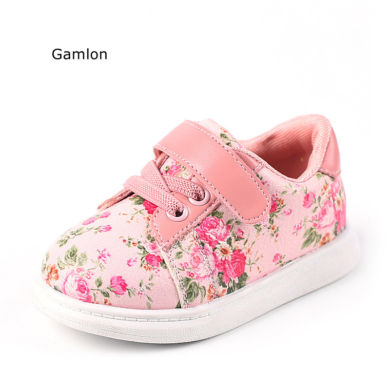 Gamlon Baby's Sneakers 2018 Autumn Small Floral Girls Baby Shoes 1-3 Year Boys Leisure Board Shoes Infant School Firstwalkers