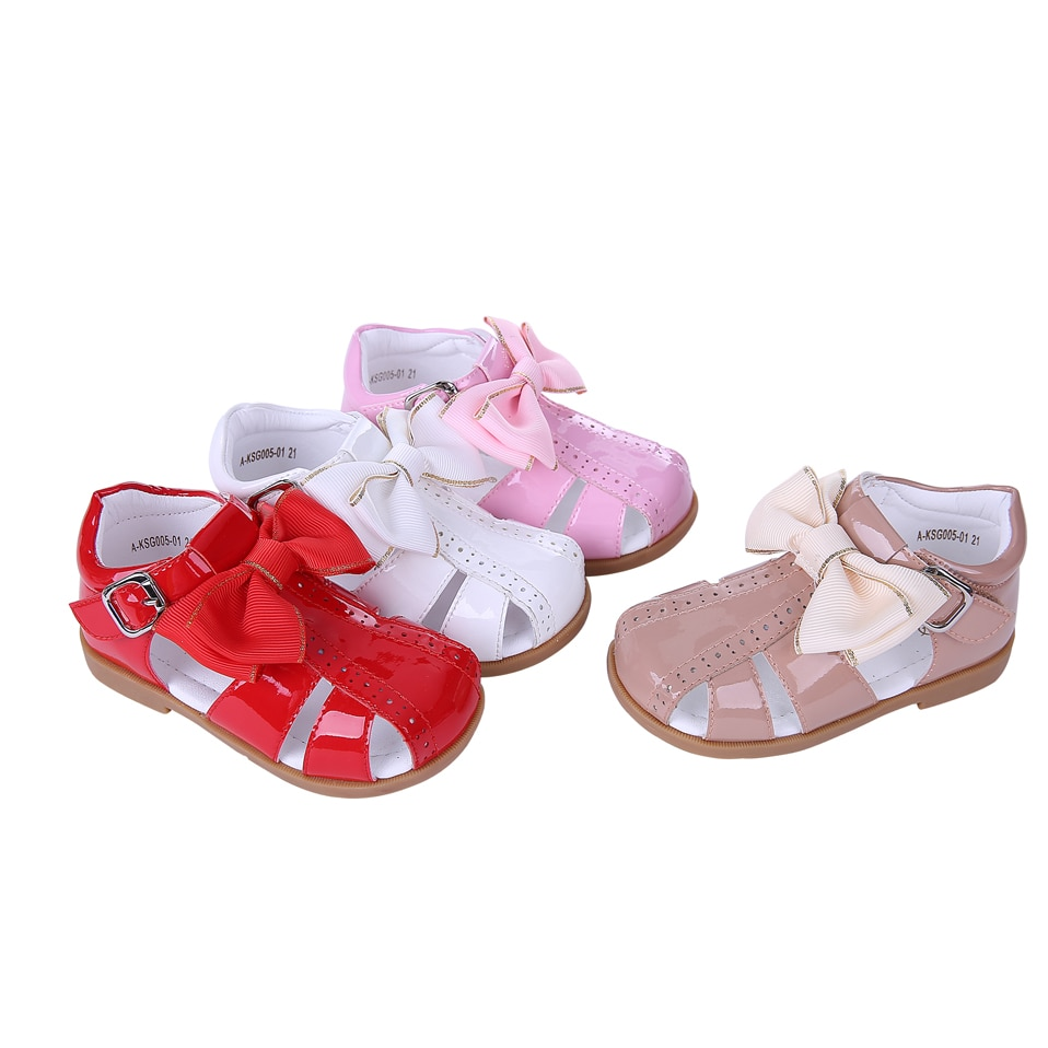 Pettigirl Summer Baby Girl Shoes Four Colors Princess Girls Sandals Infant Shoes With Bownot Children Shoes A-KSG005-01