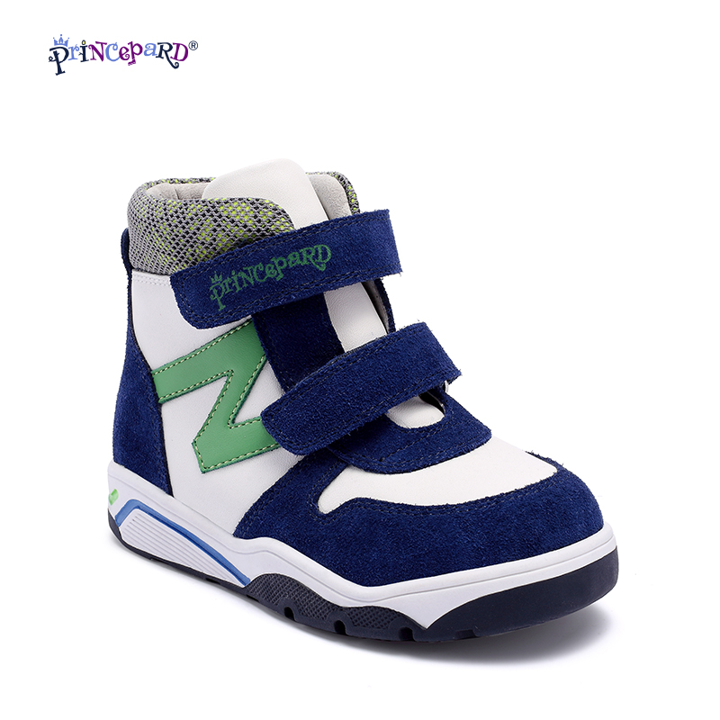 Princepard 2017 New Model Autumn Winter Kids Casual Boots Children baby green Orthopedic Shoes kids boys shoes