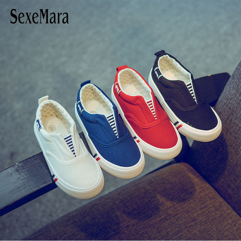 Slip On Baby Children Cloth Fabric Sneakers Stripes 2018 Hot Sell Casual Street Style Kids Shoes Girls Boys Canvas Shoes B05211