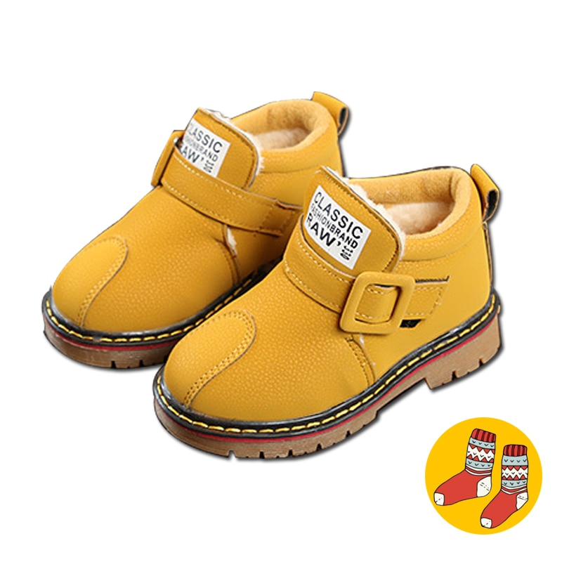 Toddler Girl Boots Winter Boys Shoes Girls 2018 Baby Boys Snow Boots Warm Cotton Kids Shoes Short Children Boats Anti-Slip Sole