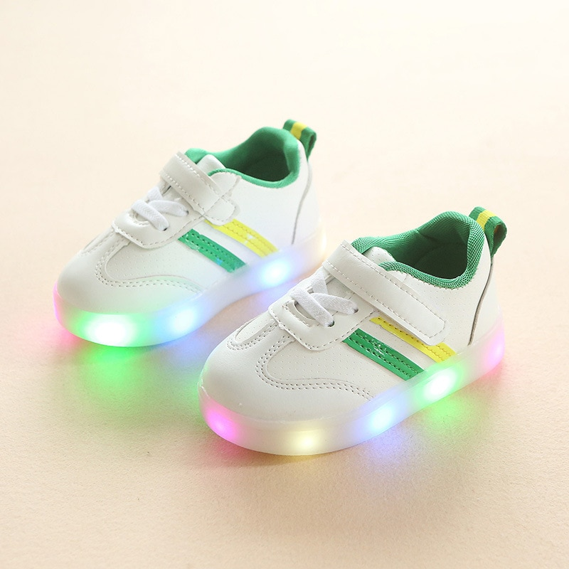 2018 Fashion LED lighting baby toddlers glowing sneakers for baby hot sales shinning baby girls boys shoes cute first walkers