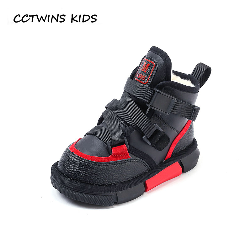 CCTWINS KIDS 2018 Winter Boy Brand Warm Shoe Children Fashion Ankle Boot Baby Boy Black Snow Boot Toddler CS1658