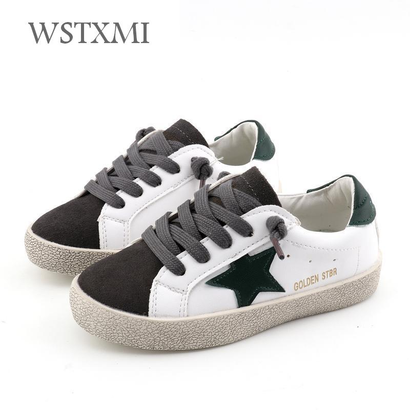 Children Shoes Sneakers for Boys Flat Girls White Shoes Kids Sports Baby Shoes Fashion Breathable Light Pu Leather Spring Autumn